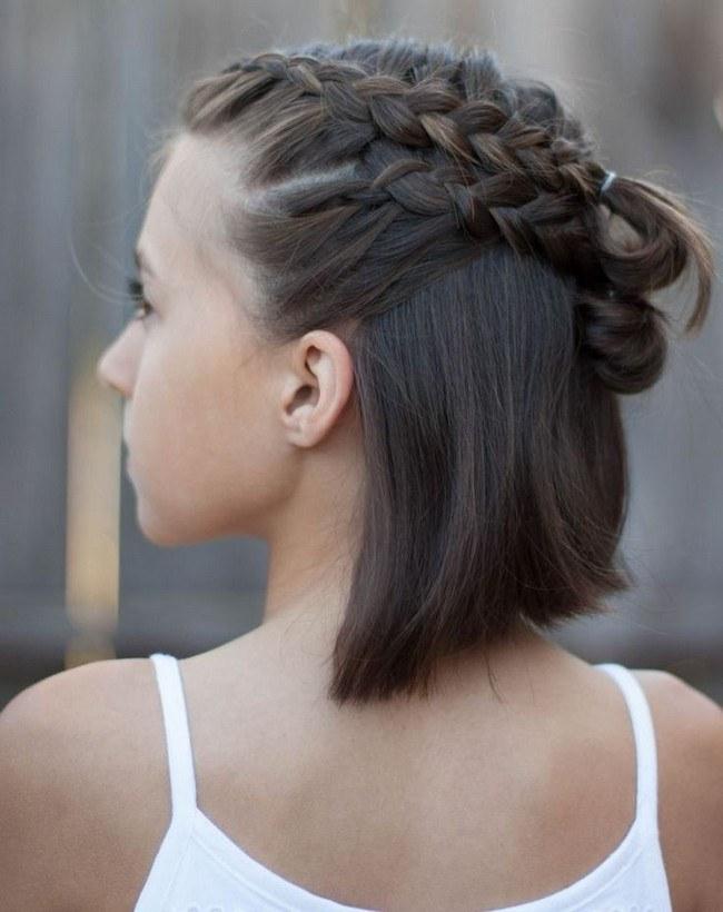 Причёски 2021 на 1 сентября на короткие волосы