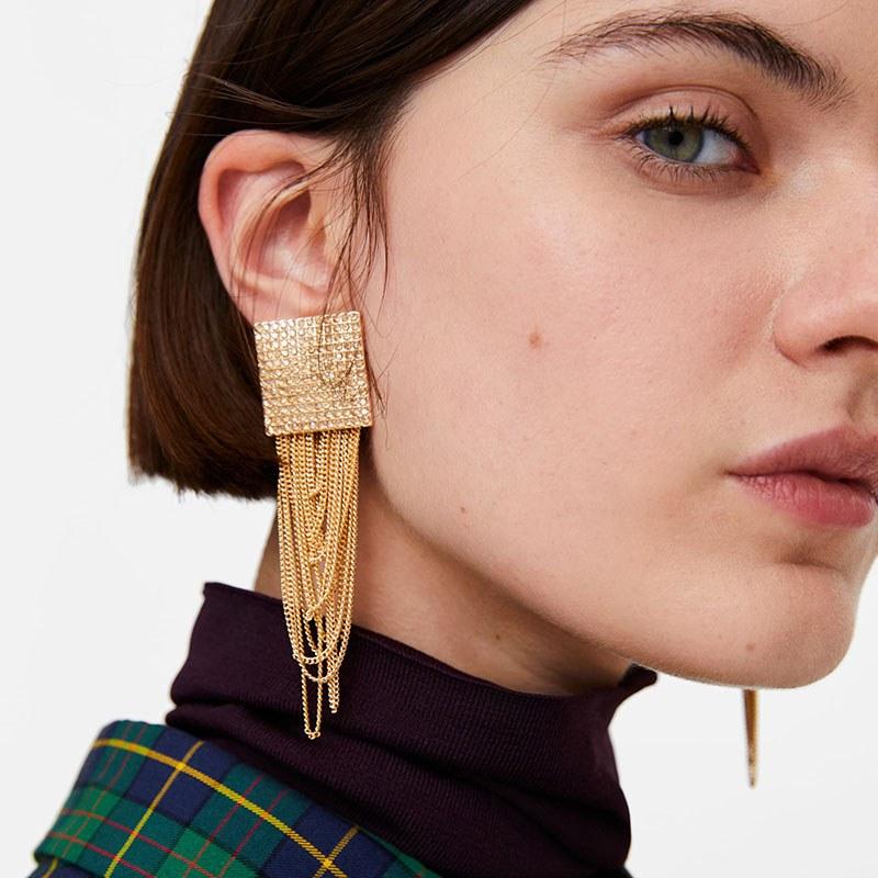 Золотые серьги 2021 модные тенденции