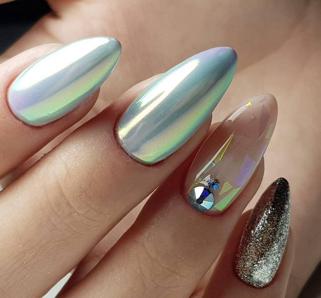 Дизайн ногтей миндаль новинки стильные 2021-2022 весна